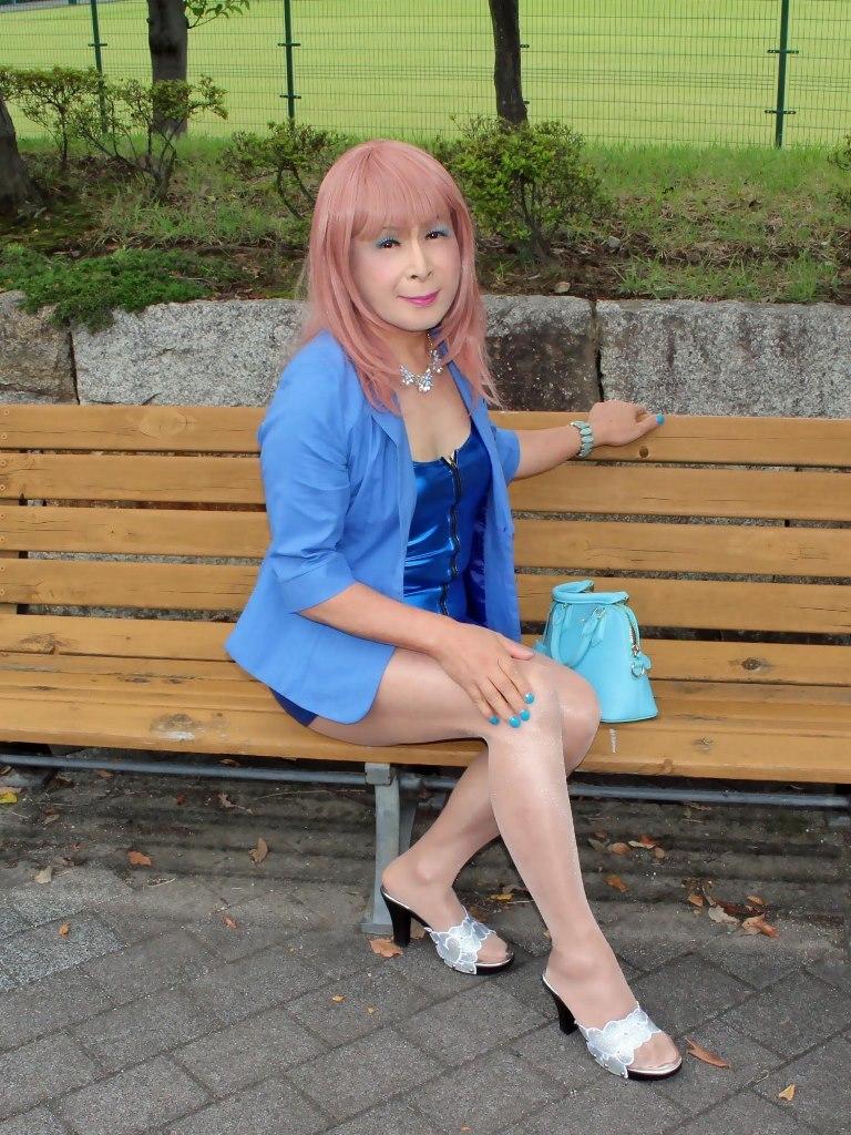 青色ホディコンミニワンピB(3)