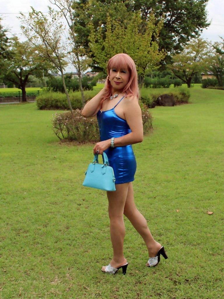 青色ボディコンミニワンピC(4)