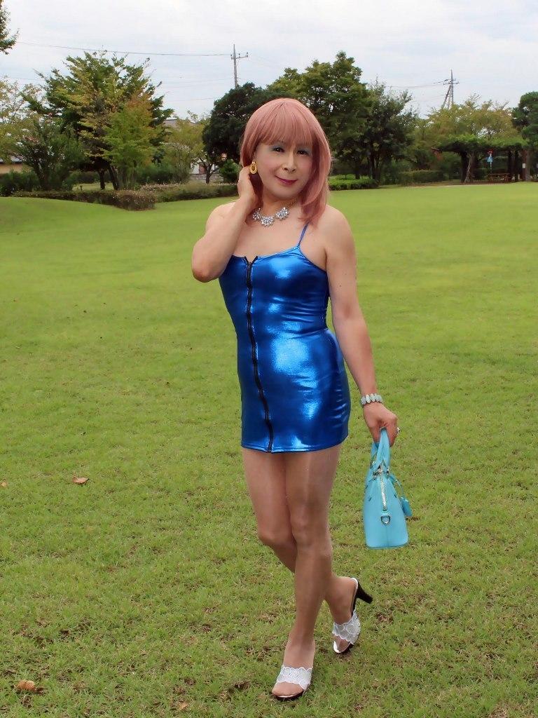 青色ボディコンミニワンピC(5)