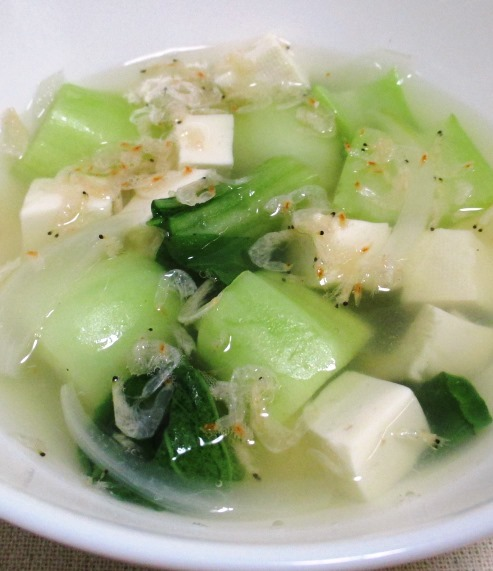 豆腐と青梗菜 B