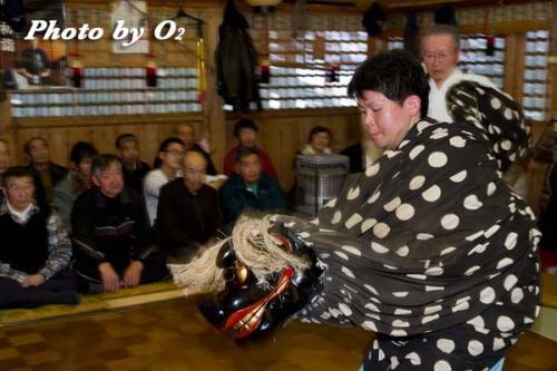 白符大神宮新年祭 松前神楽 十二の手獅子舞・五方
