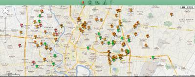 素晴らしいバンコク洪水情報マップ(地図の日本語も表示可能)