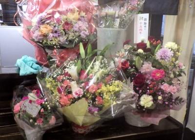 綿麺 15周年! 贈られたお花