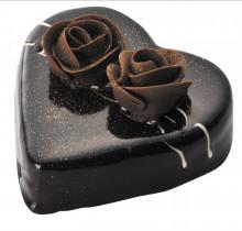 $T2のブログ-ハートチョコレートケーキ