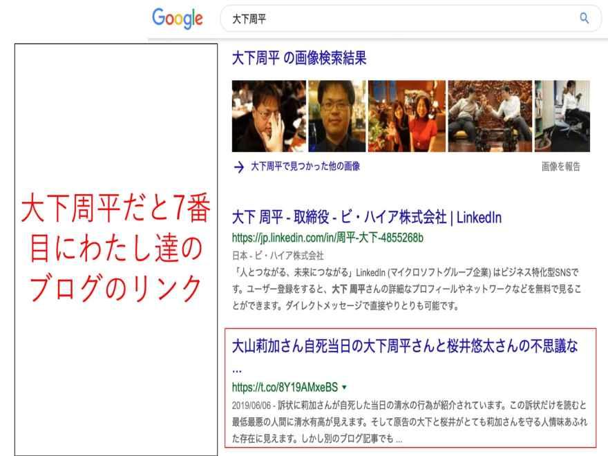 Google検索結果 大下周平 桜井悠太 大山莉加 青山龍 清水有高4