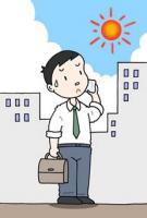 Intenso calor, Día del pleno verano, El calor mide
