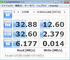 Team U100 (600-UT16G) ベンチ