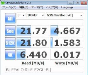 バッファローBUFFALO(メルコ) RUF2-E2GL-BL
