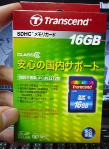 Transcend(トランセンド) TS16GSDHC6 パケ