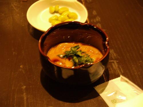 塩辛&ヒタシマメ