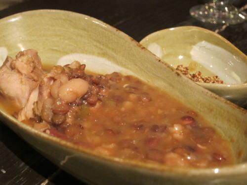 さつま赤鶏と三種豆