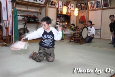 福島町松前神楽保存会練習風景