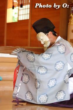 鹿部稲荷神社 本祭 松前神楽 翁舞
