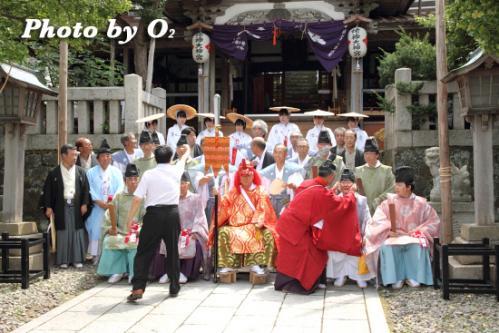 姥神大神宮渡御祭 下町巡幸 記念写真