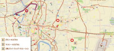 バンコク洪水マップ 2011年10月26日