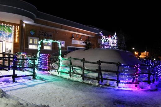 山の水族館 ライトアップされた入口