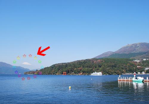 芦ノ湖からの富士