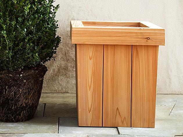 easy wooden planter plans