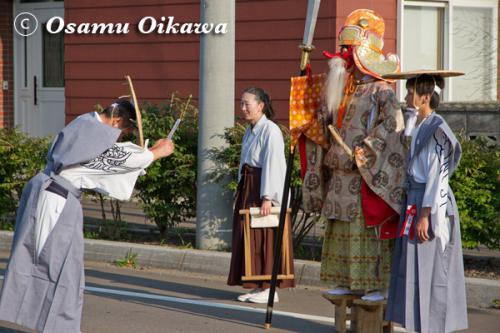 福島大神宮渡御祭 猿田彦 2012