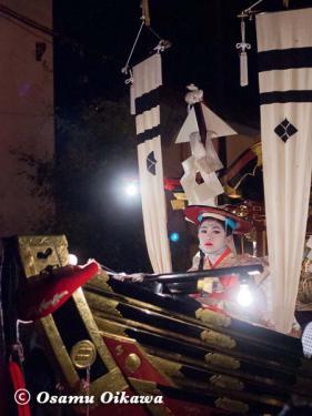 姥神大神宮渡御祭 2012 上町巡幸 船山車 松寳丸