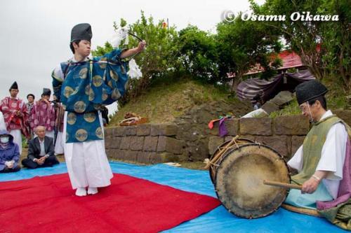 夷王山神社 神楽舞 神遊舞