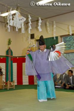 白符大神宮 宵宮祭 2012 松前神楽 鈴上舞