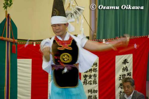 白符大神宮 宵宮祭 2012 松前神楽 神遊舞