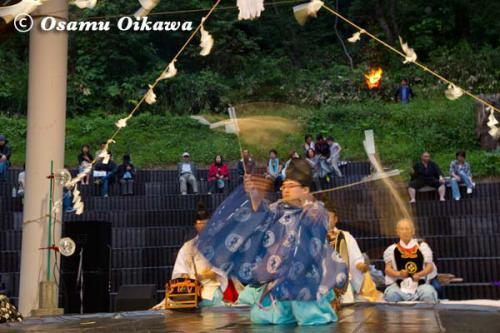 かがり火コンサート 2012 松前神楽 福田舞
