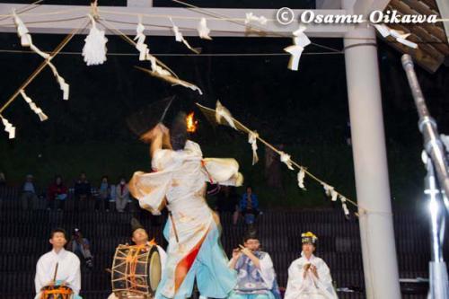 かがり火コンサート 2012 松前神楽 注連祓舞