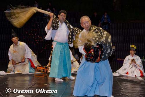かがり火コンサート 2012 松前神楽 十二の手獅子舞・五方