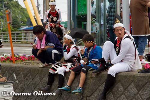 白符大神宮渡御祭 2012 荒馬踊り 休憩