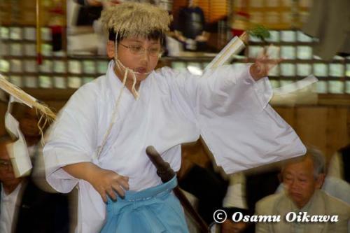 白符大神宮本祭 2012 松前神楽 山神舞