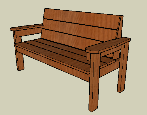 wood bench design