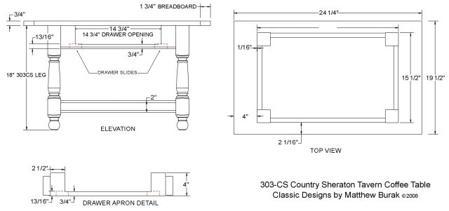 Coffee Table Plans - Step By Step DIY Woodworking Blueprints PDF