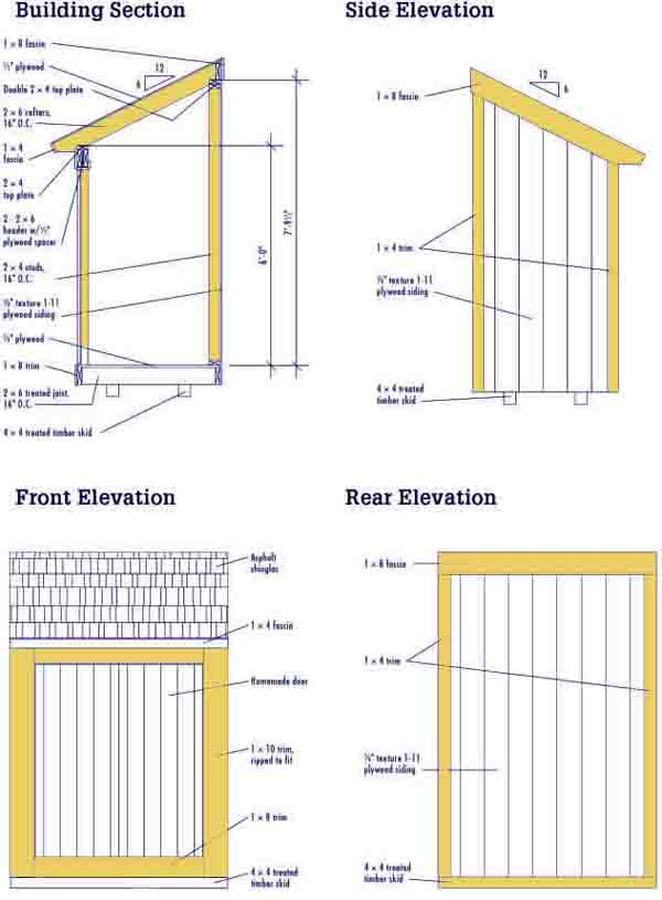 Build DIY Free lean to shed plans online PDF Plans Wooden ...
