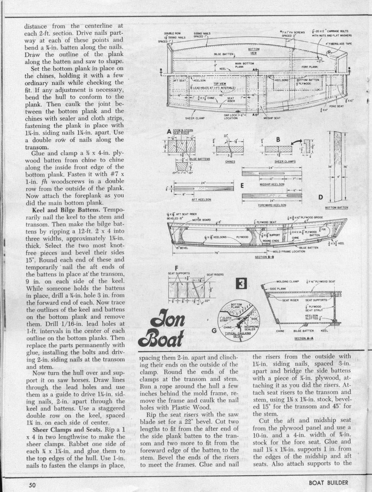 Free Jon Boat Plans How To Build A Jon Boat Boat