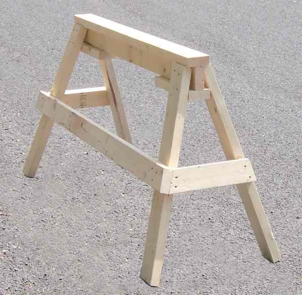 woodworking sawhorse plans - DIY Woodworking Projects