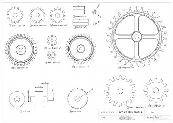 wood gear clock plans dxf | eager96nre