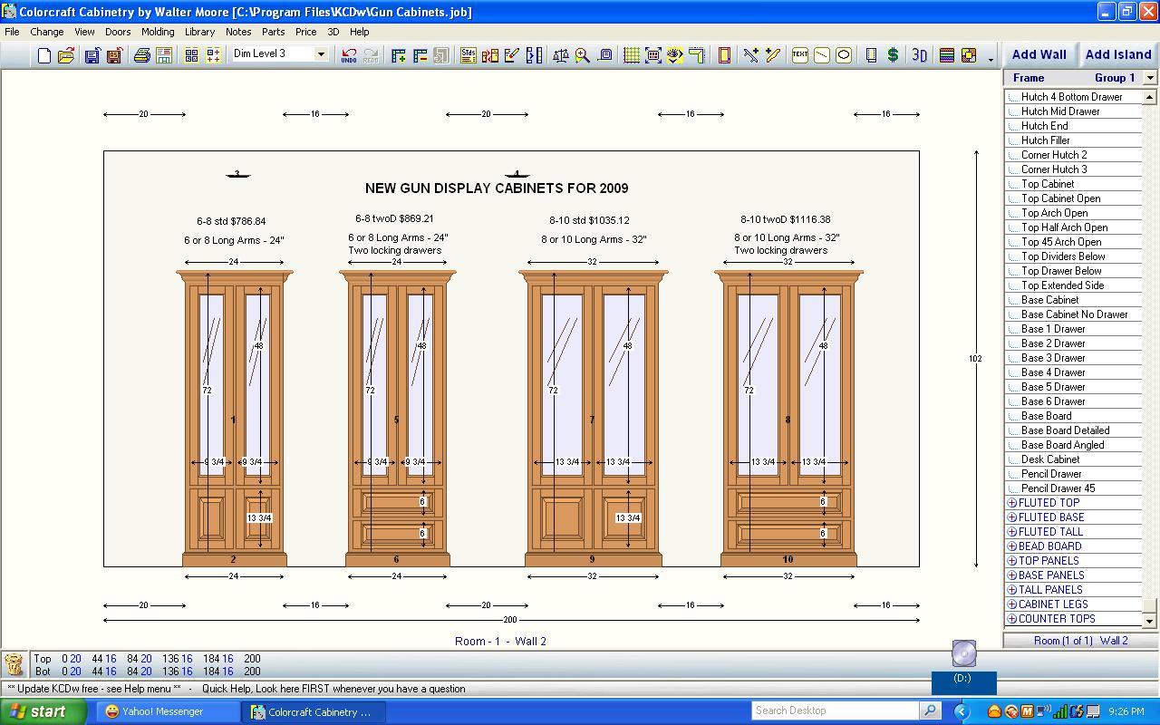 Gun cabinet building plans free diy blueprint plans for Building plans for kitchen cabinets