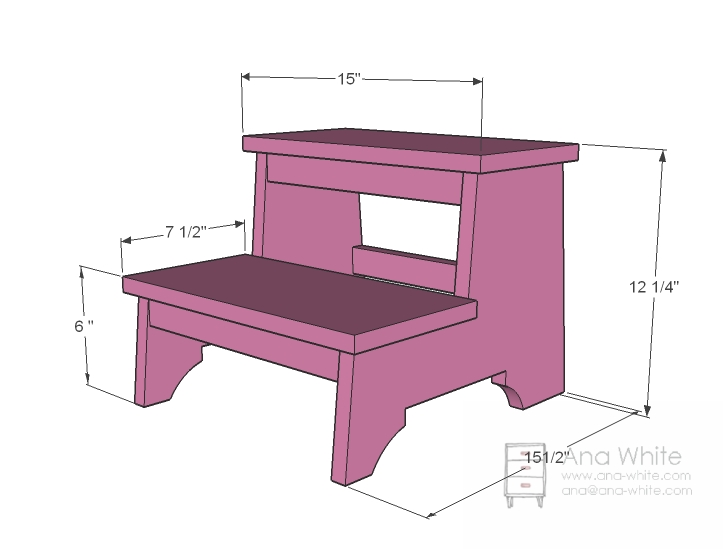 Small Wooden Step Stool Plans
