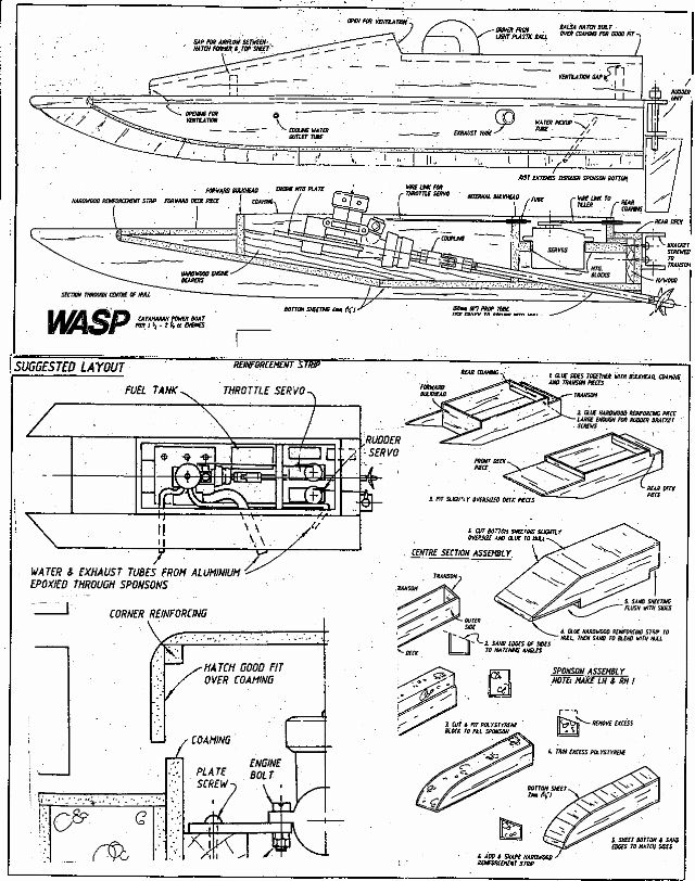 Build DIY rc small wooden boat plans free PDF Plans Wooden wooden land rover plans | bijaju54