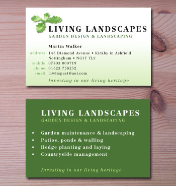 Landscape Business Cards