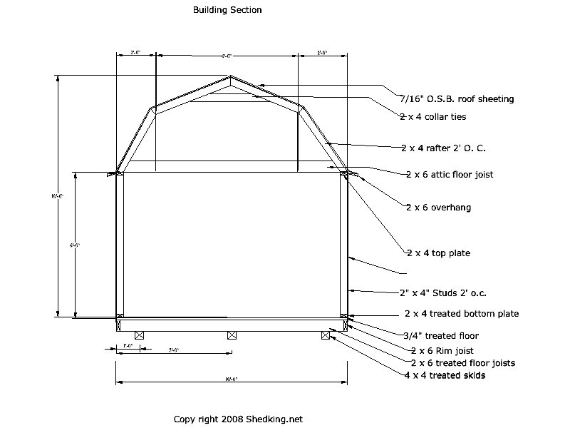 Shed Blueprints 8x10