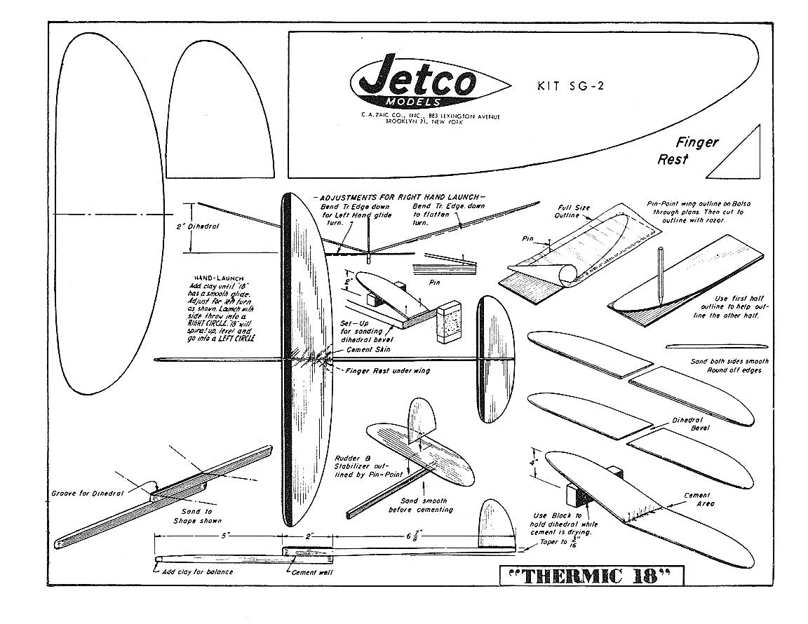 Balsa Wood Gliders Plans
