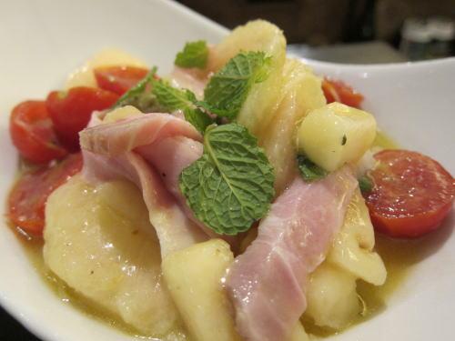 桃の冷製カッペリーニ