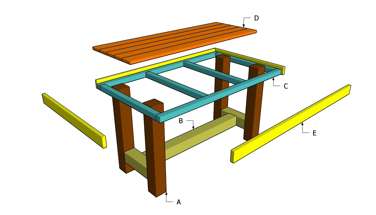 wood outdoor table plans easy diy