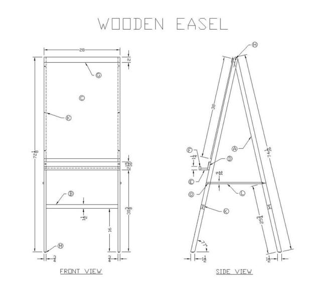 Wood Plans Easel | How To build a Amazing DIY Woodworking Projects ...