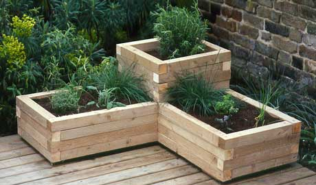 build wood planter box