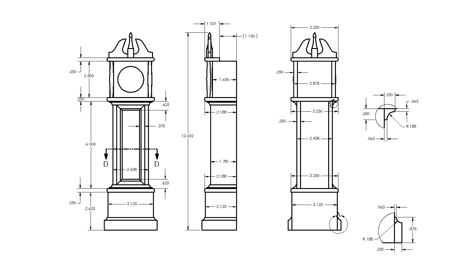 Woodworking Plans Grandfather Clock