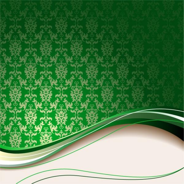 美しい曲線を交えたシームレスな背景 classic european pattern background4